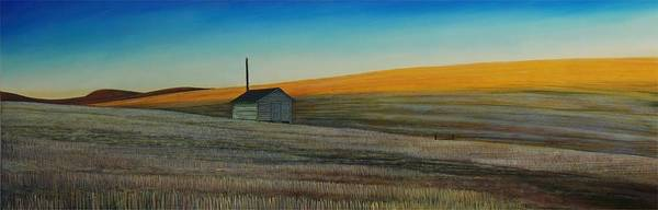Wheat Poster featuring the painting Cold Field At Dusk by Leonard Heid