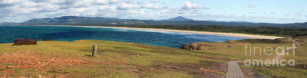 Panorama Of Look At Me Headland Poster featuring the photograph Panorama of Look at Me Headland, Australia by Sheila Smart Fine Art Photography