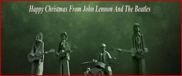 Happy Christmas From John Lennon Poster featuring the photograph Happy Christmas From John Lennon by Dan Sproul
