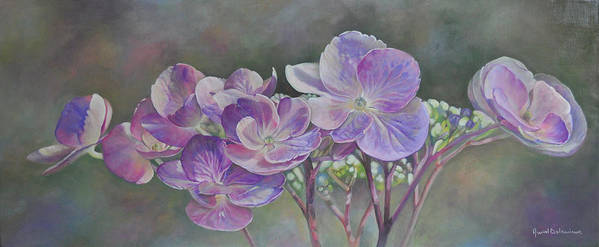 Acrylic Poster featuring the painting Hortensia de St Jean by Muriel Dolemieux