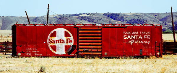 Darin Volpe Railroad Poster featuring the photograph Santa Fe - All The Way by Darin Volpe