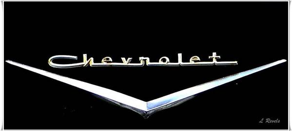 Chevrolet Poster featuring the photograph Chevrolet Logo by Leslie Revels