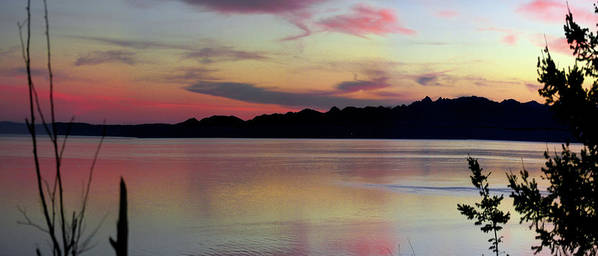 Sunset Poster featuring the photograph Early Whidbey Island Sunset by Mary Gaines