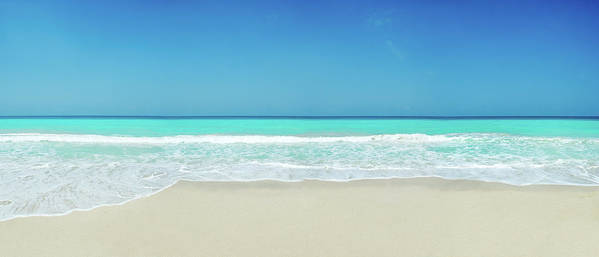 Water's Edge Poster featuring the photograph Tropical White Sand Beach by Apomares