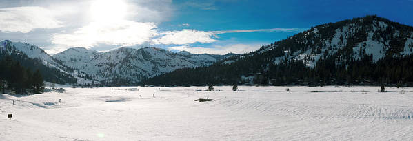 Poster featuring the photograph Squaw Valley Panoramic by Adam Blankenship