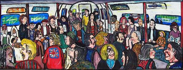 People Poster featuring the painting Mind The Gap by Richard Hubal