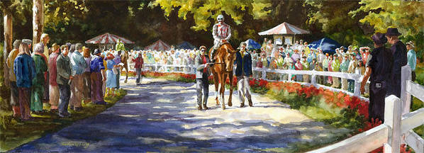 Watercolor Poster featuring the painting Promenade by Carolyn Epperly