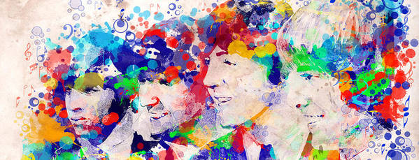 Beatles Poster featuring the painting The Beatles Tb by Bekim M
