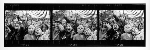 Timeincown Poster featuring the photograph Composite Of Frames 33 34 & 35 Of by Alfred Eisenstaedt