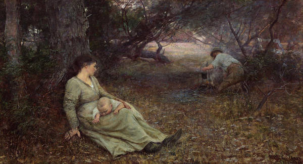 Frederick Mccubbin Poster featuring the painting On the wallaby track by Frederick McCubbin