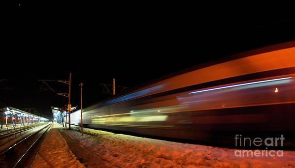 Train Poster featuring the photograph Runaway Train by Amalia Suruceanu