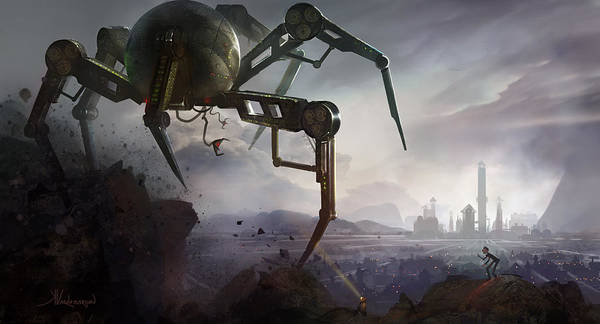 Steam Punk Poster featuring the digital art The Chase by Kristina Vardazaryan