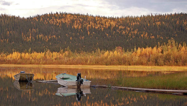 Harding Lake Poster featuring the photograph Peaceful Harding Lake by Jim and Kim Shivers