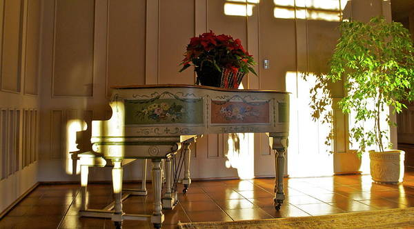 Poster featuring the photograph Piano in Light by Lori Leigh