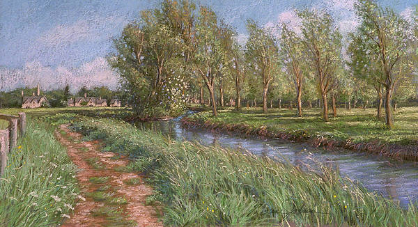 Cotswolds England Poster featuring the painting England Spring by L Diane Johnson