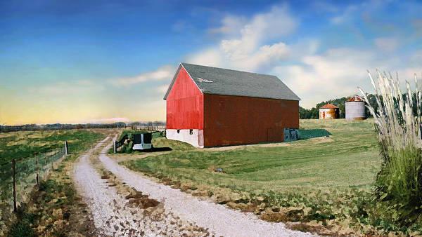 Barn Poster featuring the photograph Kansas landscape II by Steve Karol