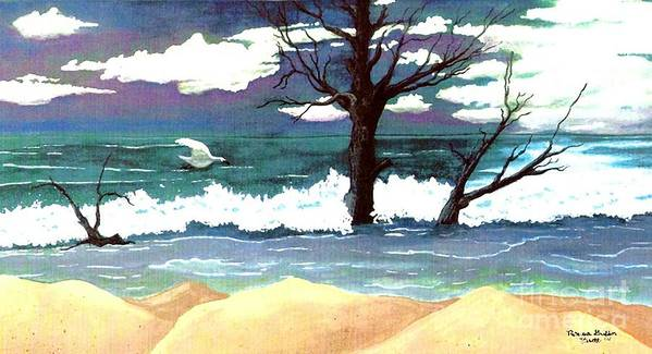 Original Watercolor Painting Poster featuring the painting Lost Swan by Patricia Griffin Brett