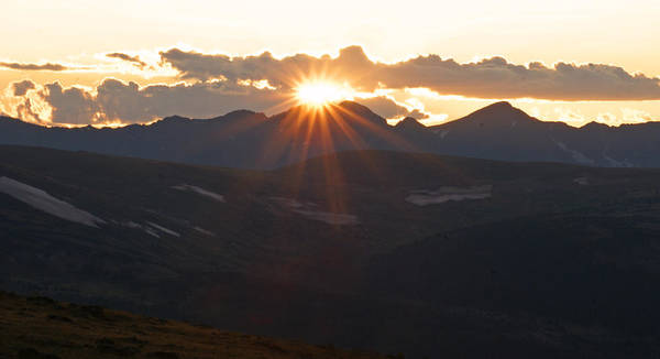 Sunset Poster featuring the photograph Sunset at 12.000 feet by Heather Coen