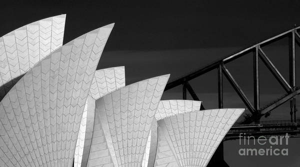 Sydney Opera House Poster featuring the photograph Sydney Opera House with bridge backdrop by Sheila Smart Fine Art Photography