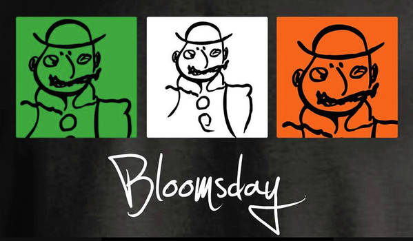 James Joyce Ulysses Bloomsday Poster featuring the drawing Bloomsday by Roger Cummiskey