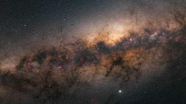 Stars Poster featuring the photograph Galactic Core by Bartosz Wojczynski