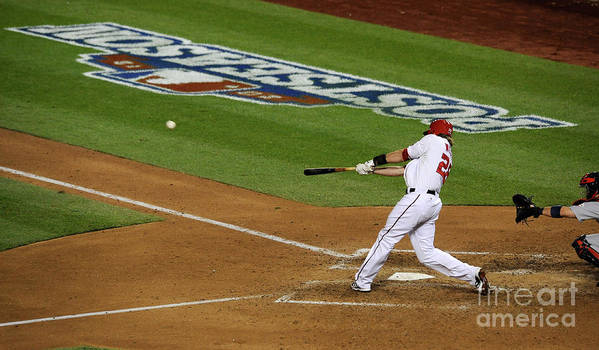 Playoffs Poster featuring the photograph Jayson Werth by Patrick Mcdermott