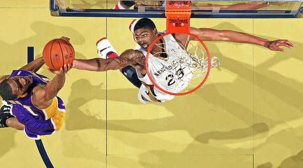 Nba Pro Basketball Poster featuring the photograph Anthony Davis by Layne Murdoch