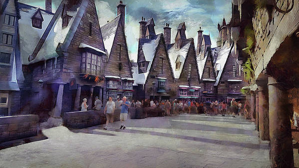 Hogsmeade Poster featuring the photograph Hogsmeade Shopping by Cedric Hampton