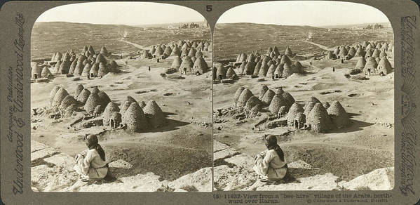 1900 Poster featuring the photograph Arab Bee Hive Village by Underwood & Underwood