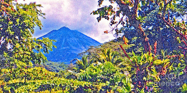 Costa Rica Poster featuring the photograph Arenal Volcano Costa Rica by Jerome Stumphauzer