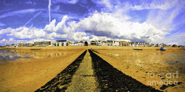 Southend On Sea Poster featuring the photograph Seafront at Southend on Sea by Sheila Smart Fine Art Photography