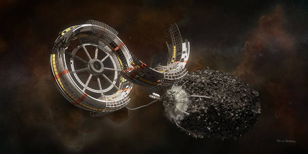 Space Station Construction by Bryan Versteeg
