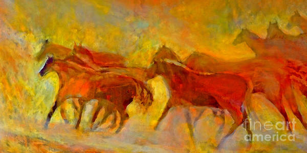 Mustangs Poster featuring the painting Running Wild by Kip Decker