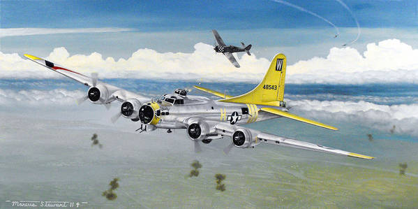 B-17 Poster featuring the painting Chuckie by Marc Stewart