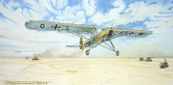 Wwii Poster featuring the painting Desert Storch by Marc Stewart