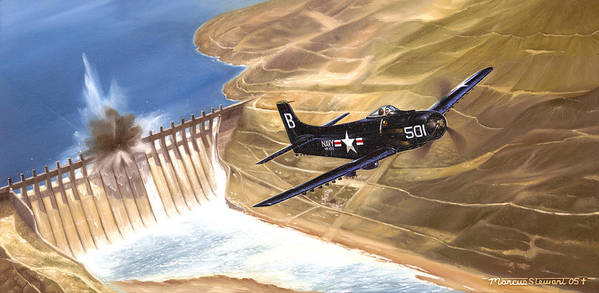 Military Poster featuring the painting Last of the Dambusters by Marc Stewart