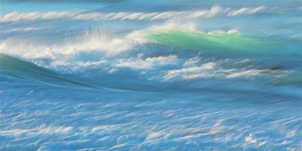 Nature Poster featuring the photograph Light Wave at Asilomar, Pacific Grove, California by Zayne Diamond Photographic