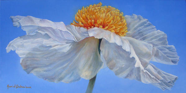 Floral Painting Poster featuring the painting Matilla 2 by Muriel Dolemieux