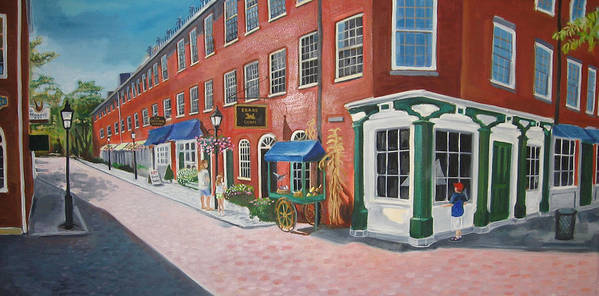 Mcgrath Poster featuring the painting Newburyport MA by Leslie Alfred McGrath