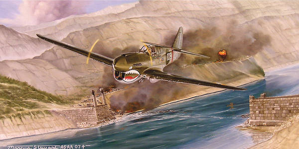 Painting Poster featuring the painting Tex Hill Over the Salween Gorge by Marc Stewart