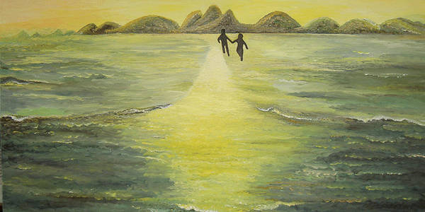 Soul Poster featuring the painting The Road in the Ocean of Light by Karina Ishkhanova