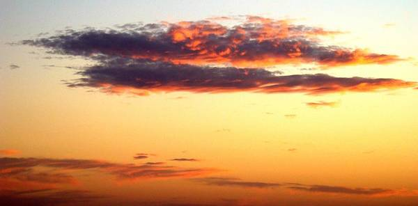 Sunset Poster featuring the photograph Winter Clouds One by Ana Villaronga