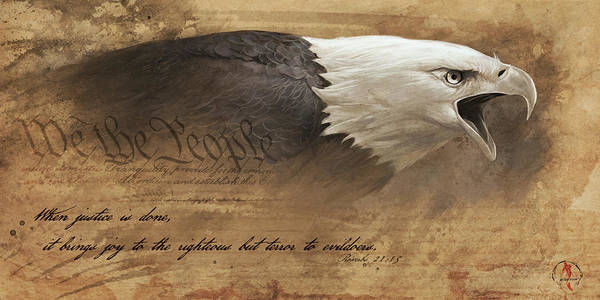 Eagle Poster featuring the digital art Joy of the Righteous by Steve Goad