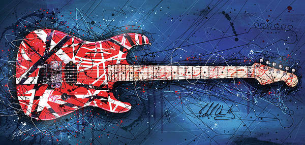 Guitar Art Poster featuring the digital art Light Up The Sky by Gary Bodnar