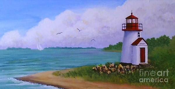 Lighthouse Poster featuring the painting Nantucket Lighthouse by Hugh Harris
