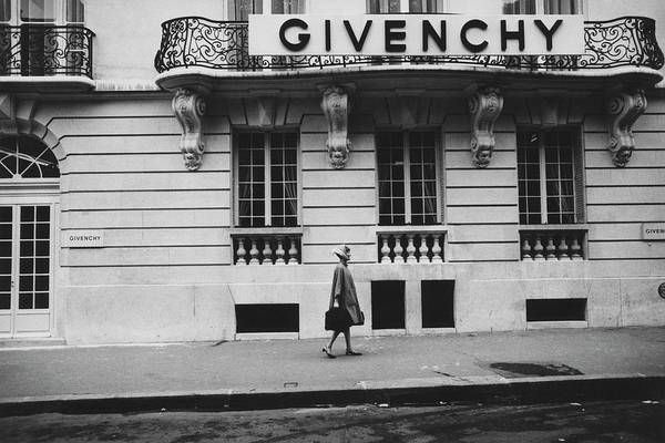 Exterior Poster featuring the photograph Isabel O'Donnell In Front Of Givenchy by Knight Russell