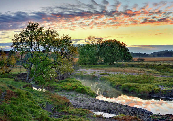 Landscape Poster featuring the photograph Summer Stream Sunrise by Bruce Morrison