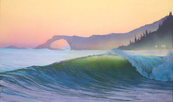 Ocean Poster featuring the painting Sunset Sonata by Philip Fleischer