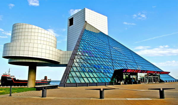 Rock Poster featuring the photograph Rock and Roll Hall of Fame by Frozen in Time Fine Art Photography