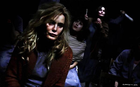 American Horror Story: Asylum Poster featuring the digital art Jessica Lange as Sister Jude @ TV serie American Horror Story Asylum by Gabriel T Toro